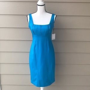 NEW CALVIN KLEIN BEAUTIFUL BLUE FITTED DRESS